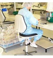 Bimos Cleanroom Basic 3 with glides and step - contact backrest + seat tilt